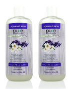 PURE Aromatherapy Lavender and Chamomile Bubble Bath, Organic Essential Oils Bath Foam - Nourishes & Soothes, 2 Large Lavender Bubble Bath is Sulphate Free with Lavender Essential Oil!