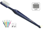Paro S43 Soft 4-Row Toothbrush with Interspace Brush F - #709