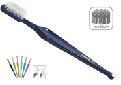 Paro M43 Medium 4-Row Toothbrush with Interspace Brush F - #708