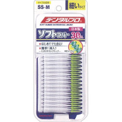 DentalPro Soft Rubber Interdental Brushes - 30 Pack - size SS-M