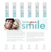 LYSmile 6 Giant Syringes of 44% Teeth Whitening Gel (10cc each provides 60 whitening treatments). Made in USA.