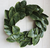 Magnolia Leaf Wreath, 50cm (Adjustable Leaves, Artificial Leaves) | by Urban Legacy