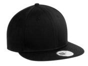 New Era Flat Bill Adjustable Cap, Black, OSFA