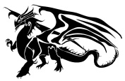 Stylized Dragon Beast Vinyl Arts Wall Decor Decals Stickers For Home