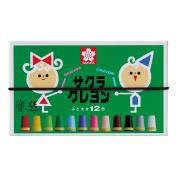 12 colours LY12R Sakura Colour crayon Futoshimaki