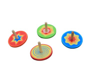 Vi.yo Classic Wooden Spinning Top Funny Wooden Gyro Peg-Top Kid Educational Toy,Random Colour