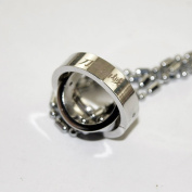word Art Online Stainless Steel Rotating Rings Pendant Necklace Cosplay NEW