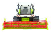 ToylandⓇ 32cm Friction Powered Green Combine Harvester - Farm Toys