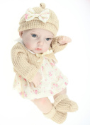 Terabithia Mini 28cm Lovely Lifelike Newborn Baby Dolls Silicone Full Body Waterproof Beige Girls