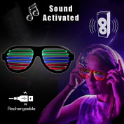 Sound, Voice & Music Reactive LED Glasses USB Rechargeable - 2017 Model - The Glowhouse UK