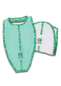 Surfer Baby Large Surfboard Shaped 100% Cotton Baby Bib and Burp Cloth Set