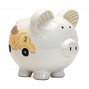Child to Cherish Ceramic Piggy Bank, Digger Dump Truck