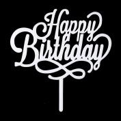Happy Birthday Cake Topper, Acrylic Party Decoration