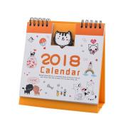 Anshinto 2018 Cute Cartoon Animal Desk Desktop Calendar Flip Stand Table