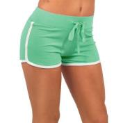 Anshinto Women Sport Shorts Gym Workout Waistband Skinny Yoga Elastic Shorts