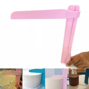 Glorrt Adjustable Fondant Cake Scraper Icing Piping Cream Spatula Edges Smoother