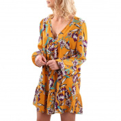 Women's Dress Neartime Casual Printing V Collar Long Sleeve Mini Party Dress