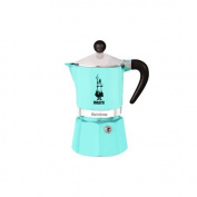Bialetti 5041 Rainbow Espresso Maker, Light Blue