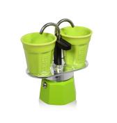 Bialetti 6192 Mini Express Espresso Maker Set, Green