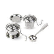 OUNONA Tea Infuser Set with Tea Scoop and Drip Trays Loose Leaf Strainer