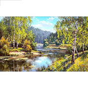 5D DIY Diamond Painting,NACOLA Rhinestone Pictures Of Crystals Embroidery Kits Arts Crafts & Sewing Cross Stitch-Beautiful Mountain Forest