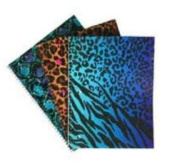 Emraw Animal Print Notebook Spiral with 70 Sheets of Wide Ruled White Paper - Set Includes