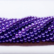 100pcs Top Quality Czech Glass Pearl Round Beads 3mm Lavender Purple colour