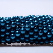 100pcs Top Quality Czech Glass Pearl Round Beads 3mm Indicolite colour