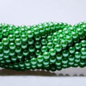 100pcs Top Quality Czech Glass Pearl Round Beads 3mm Green colour
