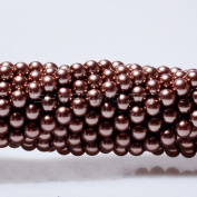 100pcs Top Quality Czech Glass Pearl Round Beads 3mm Chocolate Brown colour