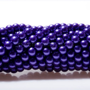 100pcs Top Quality Czech Glass Pearl Round Beads 3mm Amethyst Colour