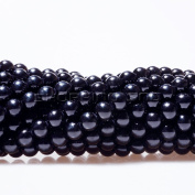 100pcs Top Quality Czech Glass Pearl Round Beads 3mm Jet Black Colour