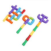 Rurah Tube Building Blocks Set Assembling Toys Plastic Tube Waterpipe Pipeline Building Blocks -Fine Motor Skills- Children Imaginations Run