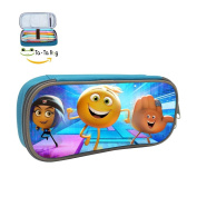 The Emoji Movie Pencil Case Pen Bag Makeup Pouch Durable Students Stationery With Double Zipper