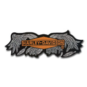 """Nice 22cm X 7.6cm Harley Davidson """"Broken Wings"""" Embroidered Patch - Wax Backing and merrowed edge - Motorcycle HOG"""