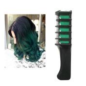 Ecurson Temporary Hair Chalk Dye Powder With Comb Salon Hair Mascara Crayo