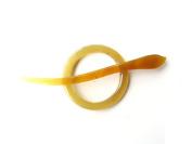 Marycrafts Circle Buffalo Horn Shawl Pin, Hair Pin, Hairpin Accessories Handmade Amber