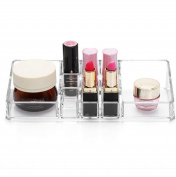 Tharv Clear Makeup Brush Holder Lipstick Cosmetic Rack Organiser | Drawer Type Acrylic Storage Box Container Sorting Box | 13.5cm x17.8cm x28.5cm