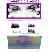 Magnetic Eyelashes by Lux Lashes | 3D Reusable False Magnet Eye Lash Enhancer for Volume, Growth & Length | Natural Fibre Lashes, Cruelty Free | Best All Ages & Eye Lid Sizes
