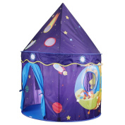 Flyproshop Castle Tents Playhouse Kids Play Tent Folding Space Tent Portable Folding Space Tent Portablefor for Princess & Prince, Indoor and Outdoor Fun Plays
