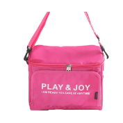 Hoomall Waterproof Lunch Bag Tote Lunch Box Insulated Cooler Carry Bag for Travel and Picnic 11.4x 10.5.1cm x 11cm Red
