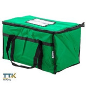 Tabletop king 60cm x 33cm x 38cm Green Insulated Nylon Food Delivery Bag / Pan Carrier