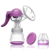 Manual Breast Pump,BPA-Free Breastpump with Lid for Breastfeeding using 100% Food Grade,Portable Breast Milk Collector