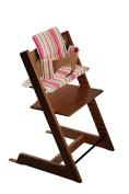 Stokke Tripp Trapp Bundle Walnut w Candy Stripes cushion and tray
