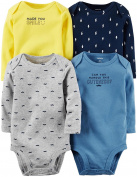 Carter's Baby Boys' Multi-Pk Bodysuits 126g338, Assorted, 3 Months