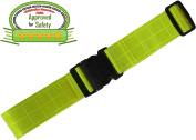 Army Reflective Belt - Military - Made from Reflective Strips for Running Jogging Cycling Walking Biking. Lightweight nylon easily adjustable Fits Comfortably Over Sports Gear and Clothing. Yellow Safety Reflective Band.