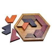 Kids Puzzles Wooden Toys Tangram Jigsaw Board Wood Geometric Shape Children Educational Toys