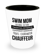Best Shot Glass Coffee Mug-Swimming Gifts Ideas for Men and Women. Swim mom cheering section financial investor equipment manager travel coordinator