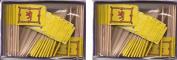 2 Boxes of Mini Scotland Lion Toothpick Flags, 200Small Scottish Lion Flag Toothpicks or Cocktail Sticks & Picks