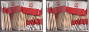 2 Boxes of Mini Poland Eagle Toothpick Flags, 200 Small Polish Eagle Flag Toothpicks or Cocktail Sticks & Picks